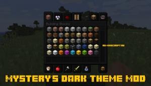 Mystery's Dark Theme Mod - чёрное меню для майнкрафта [1.12.2]