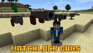 Matchlock Guns - пороховое оружие [1.16.4] [1.12.2]