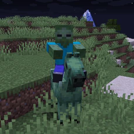 Zombie Horse Spawn - спавн зомби на лошади [1.17.1] [1.16.5] [1.15.2] [1.14.4] [1.13.2] [1.12.2]