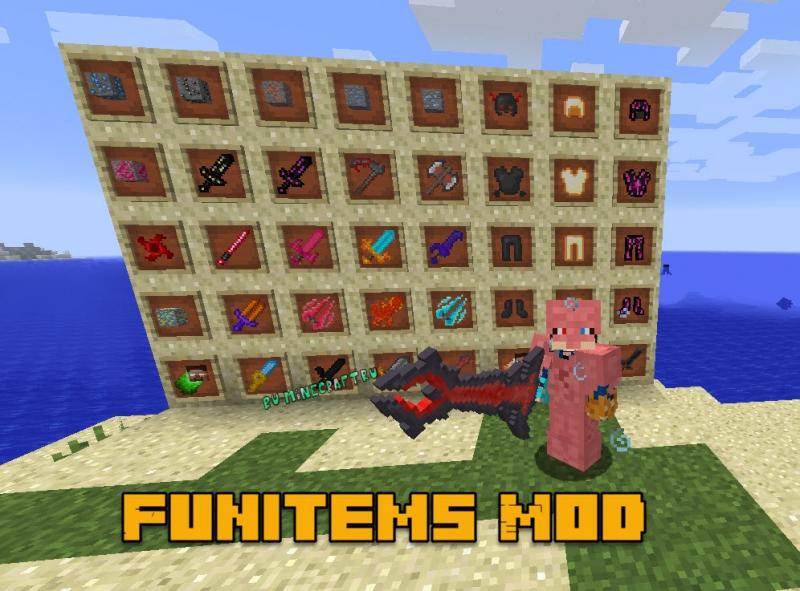 FunItems Mod - сеты брони, крутого оружия, инструментов [1.16.3] [1.15.2] [1.14.4] [1.12.2]