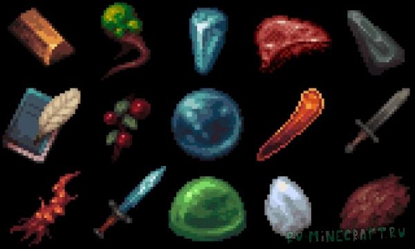MYTHIC - A Pixel Art Journey - красивый ресурспак [1.15] [1.14.4] [32x]