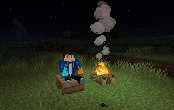 No Hostiles Around Campfire - костер спасает от монстров [1.17.1] [1.16.5] [1.15.2] [1.14.4]