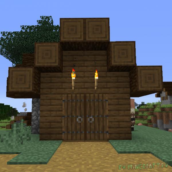 Double Doors - открытие двойных дверей [1.17.1] [1.16.5] [1.15.2] [1.14.4] [1.12.2]