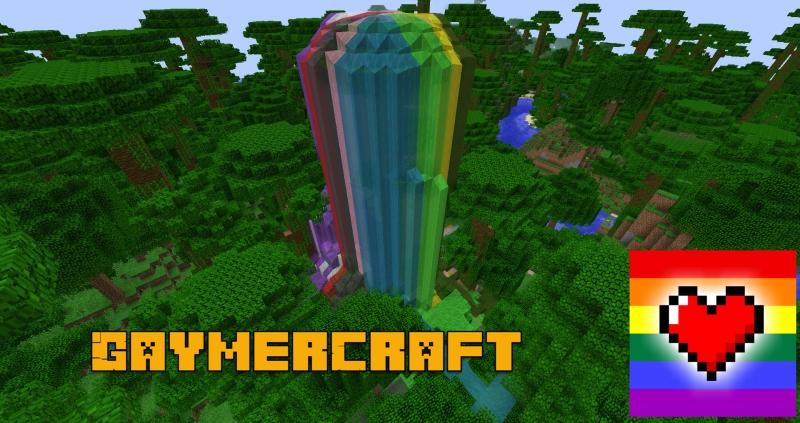 GaymerCraft - вода цвета радуги, единороги [1.14.4] [1.12.2]