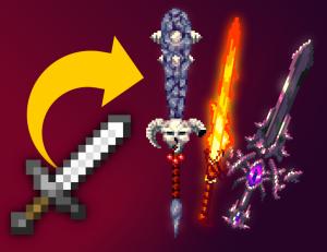 3d fantasy weapons - текстуры красивых объемных мечей [1.14.4] [1.13.2]