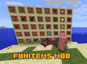 FunItems Mod - сеты брони, крутого оружия, инструментов [1.14.4] [1.12.2]