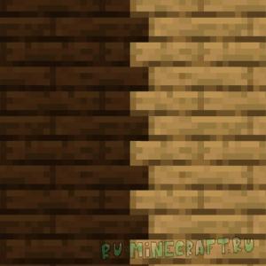 Connected Wood - соединённые текстуры дерева [1.14.4] [16x]