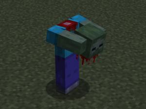 Headless Zombie - текстура зомби с оторванной головой [1.14.4] [16x]