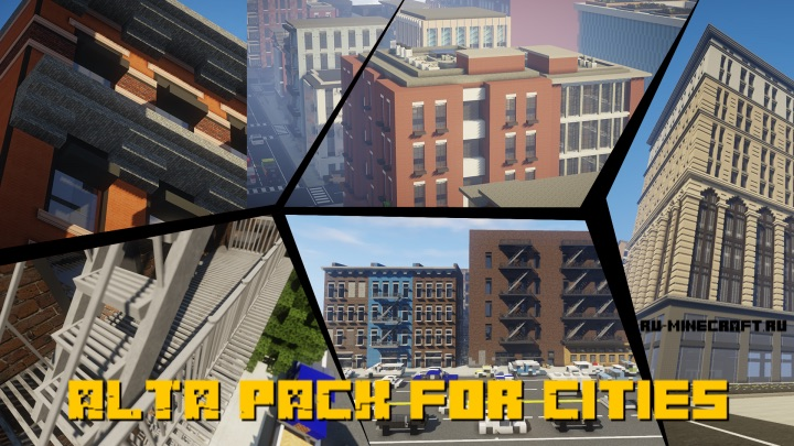 ALTA PACK for Cities - ресурспак для постройки городов [1.14.4] [128x]