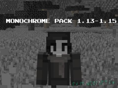 Monochrome Pack - почти чёрно-белый ресурспак [1.15] [1.14.4] [1.13.2] [16x]