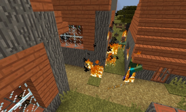 Realistic Fire Spread - горящие мобы поджигают все вокруг [1.15.1] [1.14.4] [1.12.2]