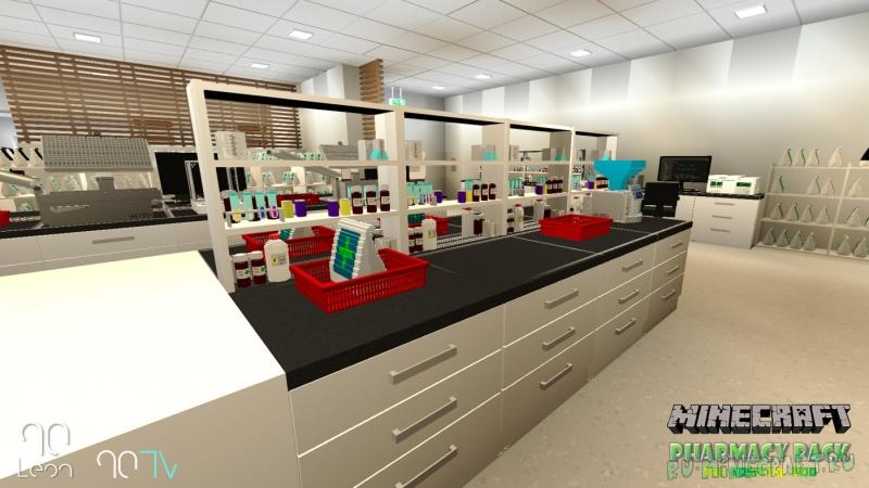 Hospital Mod - Pharmacy Pack - декор аптеки [1.14.4] [1.12.2]