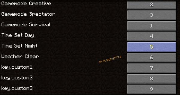 Keys4Gamemode - клавиши переключения режима игры, времени, погоды [1.16.1] [1.15.2] [1.14.4]