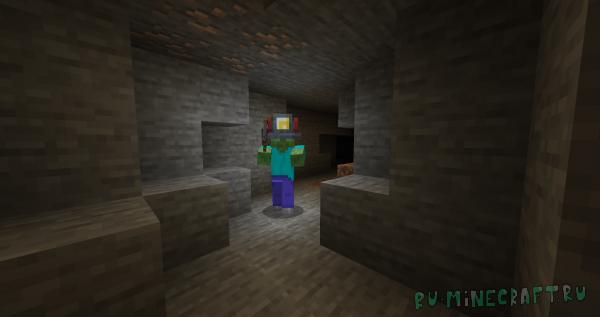 Miner's Helmet - шлем шахтёра [1.16.1] [1.15.2] [1.15.1] [1.14.4]
