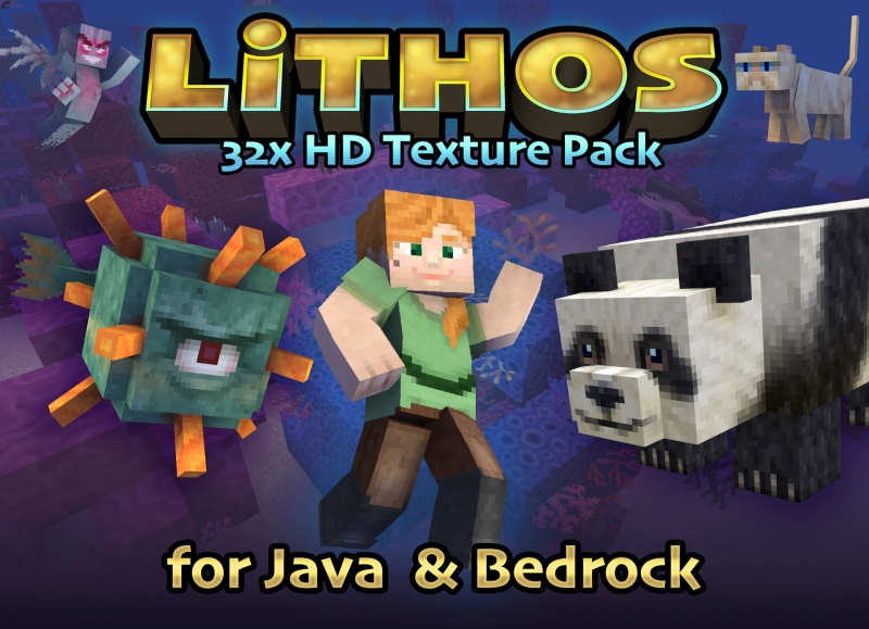 Lithos: Core - текстуры [1.14.4] [1.13.2] [1.12.2] [1.7] [32x]