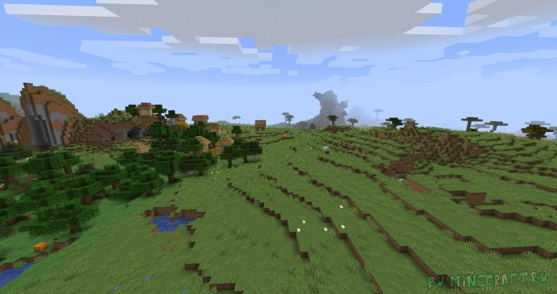 Slightly Altered Terrain Generation - новая генерация мира [1.14.4]