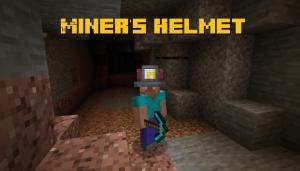 Miner's Helmet - шлем шахтёра [1.16.5] [1.15.2] [1.14.4]