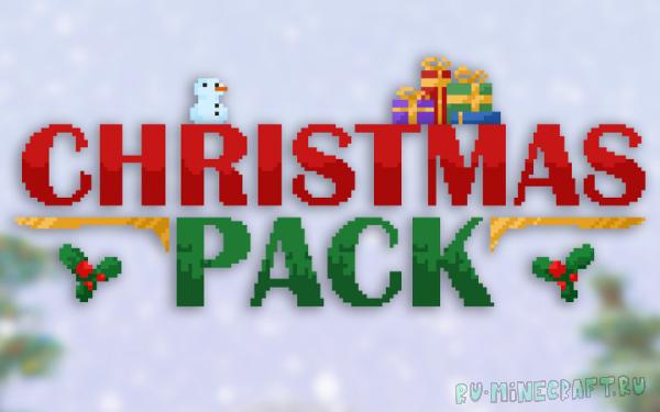 Default-Style Christmas Pack - дефолтный рождественнский ресурспак [1.14.4] [1.13.2] [16x]