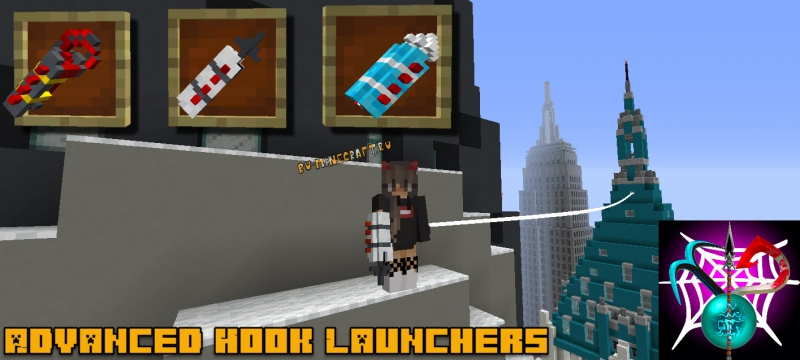 Advanced Hook Launchers - гарпуны, крюки [1.16.1] [1.15.2] [1.14.4] [1.12.2] [1.11.2] [1.10.2] [1.7.10]