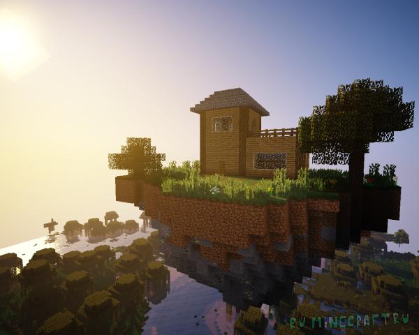 Soaring Structures - летающие острова с постройками и наградами [1.16.5] [1.15.2] [1.12.2]