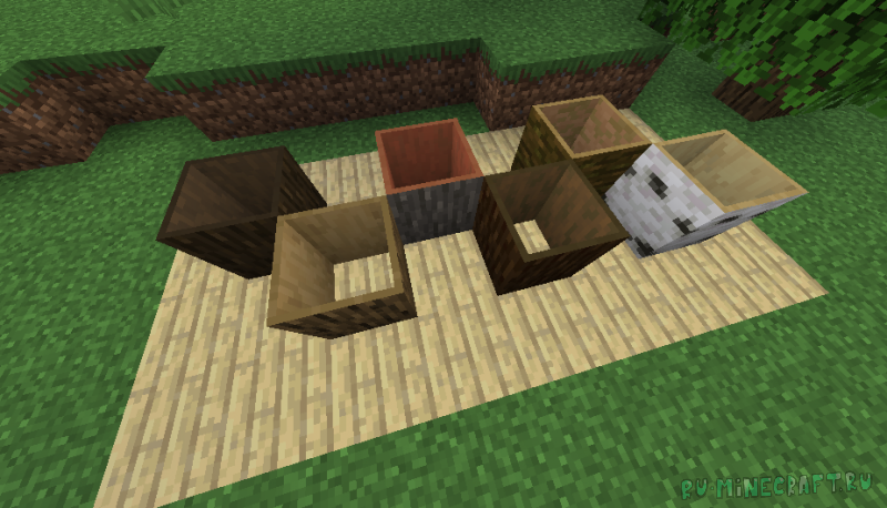 Hollow Logs - пустые внутри блоки дерева [1.15.1]