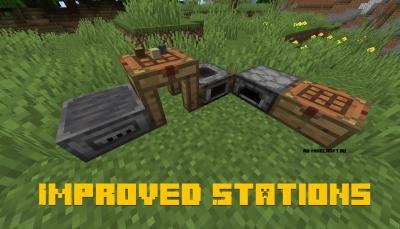 Improved Stations - новые блоки верстака и печки [1.16.1] [1.15.2]