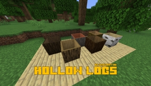 Hollow Logs - пустые внутри блоки дерева [1.16.1] [1.15.2]