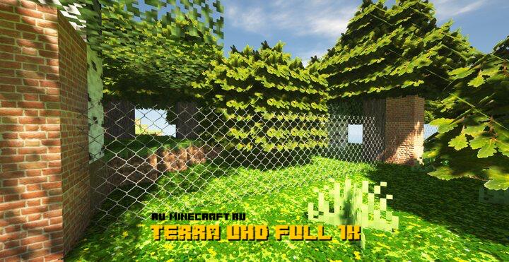 TERRA UHD FULL 1K - реалистичные текстуры в высоком разрешении [1.15.2] [1.14.4]