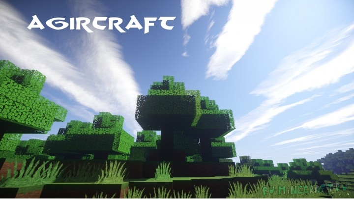 AgirCraft Realistic - реализм + картонность [1.16.1] [1.15.2] [1.14.4] [64x]