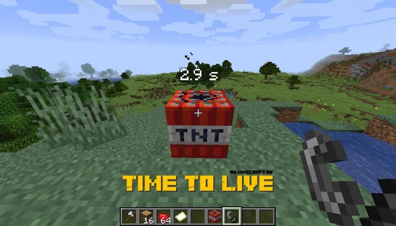 Time To Live - таймер для динамита [1.16.5] [1.15.2] [1.14.4] [1.12.2] [1.8.9]