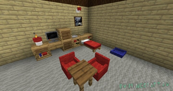 Pinball's Furniture - предметы декора вместо стандартных блоков [1.15.2] [1.14.4]