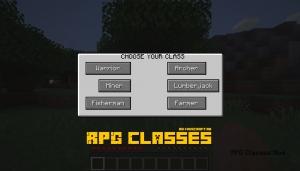 RPG Classes - РПГ классы для игрока [1.14.4]