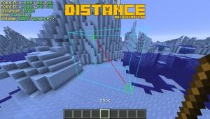 Distance - измерение дистанции между блоками и прочее [1.15.2]