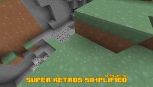 Super Retros Simplified - картонные текстуры [1.15.2] [1.14.4] [1.13.2] [16x]