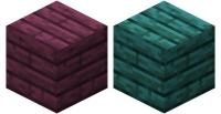 Блоки багровых и искаженных досок