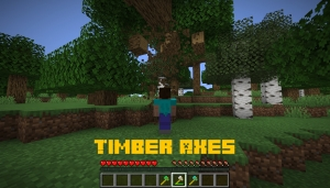 Timber Axes - топоры для рубки дерева целиком [1.15.2] [1.14.4]