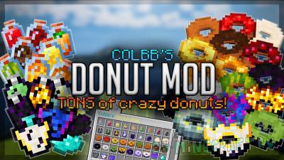 Colbb's Donut Mod - пончики с эффектами [1.15.2]