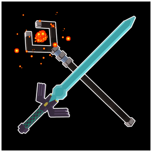 Combat but in 3D - красивые объемные мечи и посохи [1.14.4] [1.12.2]