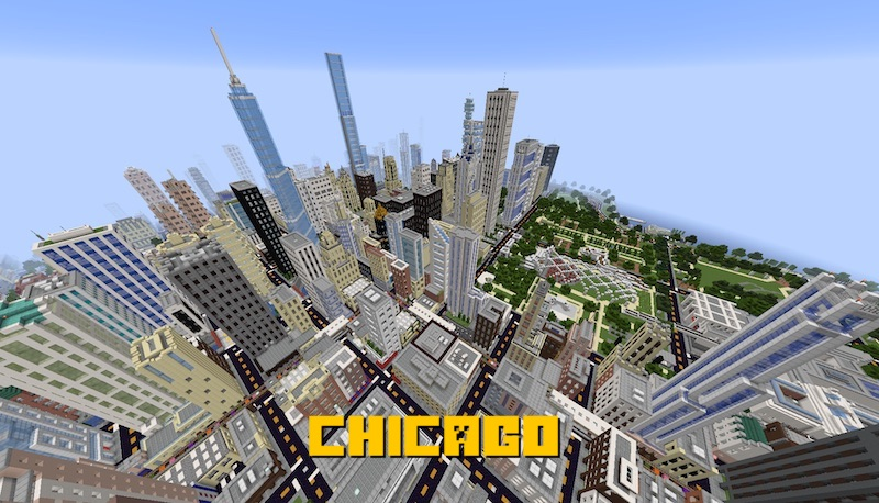 CHICAGO - реальный город Чикаго [1.15.2] [1.14.4] [1.13.2]