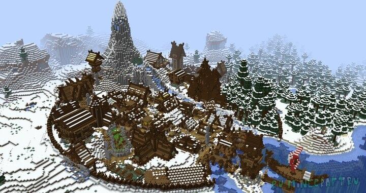 Nordic/Viking Fantasy City - средневековая деревня викингов [1.15.2] [1.14.4]