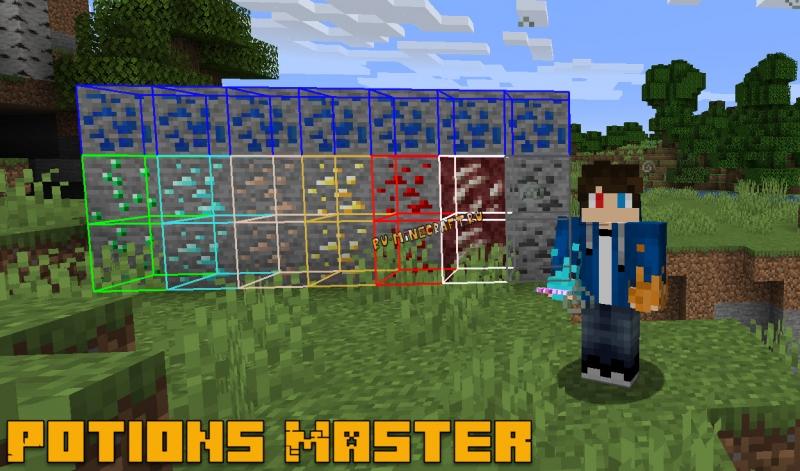 Potions Master - зелья для поиска руд [1.16.1] [1.15.2] [1.14.4]