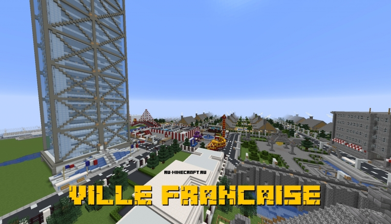 VILLE FRANCAISE - небольшой город [1.16] [1.15.2] [1.14.4] [1.13.2] [1.12.2]