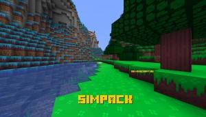 SimPack - яркий мультяшный ресурспак [1.15.2] [1.14.4] [1.13.2] [16x]