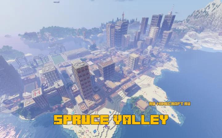 Spruce Valley - большой город [1.16] [1.15.2] [1.14.4]
