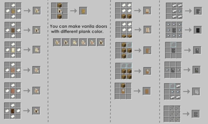 Macaw's Doors — новые двери для декора [1.16.3] [1.15.2] [1.14.4] [1.12.2]
