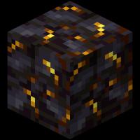 Блок позолоченного черного камня