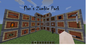 Flan's Zombie Content  Pack - оружие для борьбы с зомби, зомби пак фланс [1.12.2] [1.8] [1.7.10]