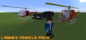 Liquid's Vehicle Pack - бэтмобиль, вертолет [1.12.2]