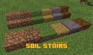 Soil Stairs - новые полублоки и лестницы [1.15.2]