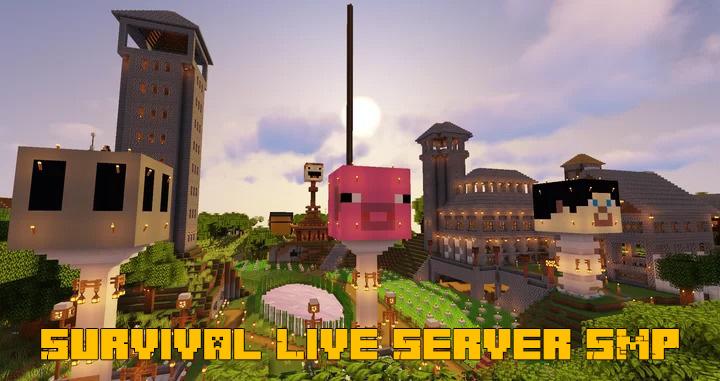 Survival Live Server SMP - карта города с сервера [1.16] [1.15.2]